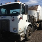 1995 White GMC Garbage Truck