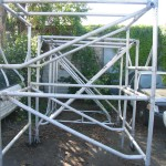 "Aldek by Werner Co. aluminum ""steptower"" scaffolding"